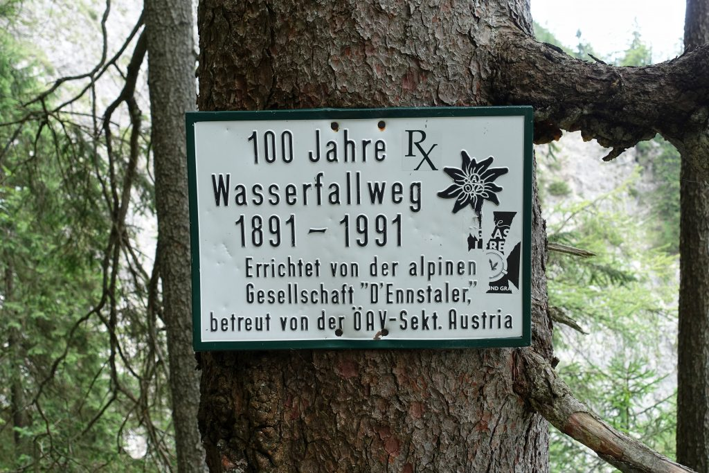 Schon 1891 wurde der Wasserfallweg erbaut!