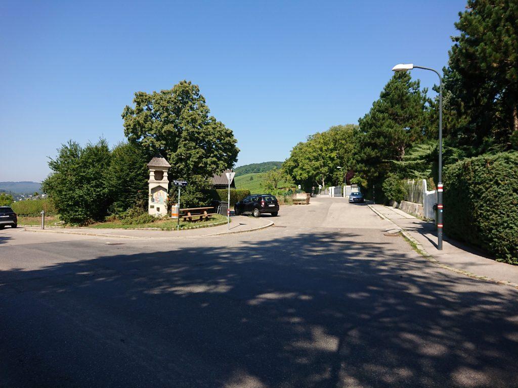 Die Bildsäule auf der Salmannsdorfer Höhe erinnert an das Jahr 1679, als hier die Pest wütete. Hier befand sich ein Seuchenfriedhof. Foto Sigrun Heppner