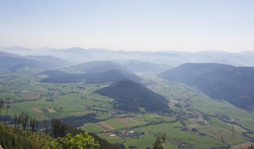 Herrliche Aussicht schon beim Aufstieg. | Foto: Johannes Reinprecht