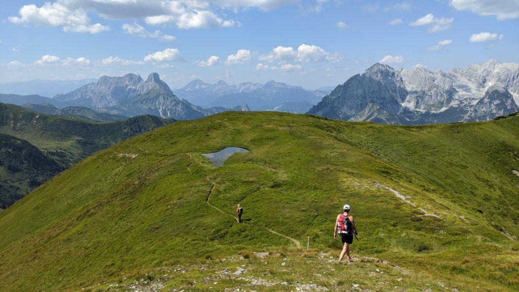 Abstieg vom Leobner zum Haberlthörl. Foto: Martin Heppner