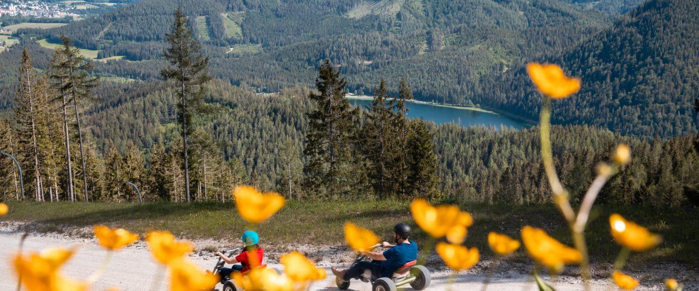 Gemeindealpe Mountaincarts. Foto: Bergbahnen Mitterbach Lindmoser