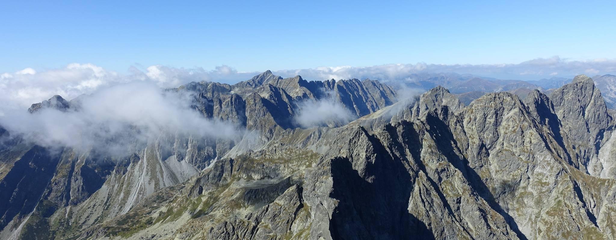 Panorama vom Rysy nach Westen. Foto: Martin Heppner