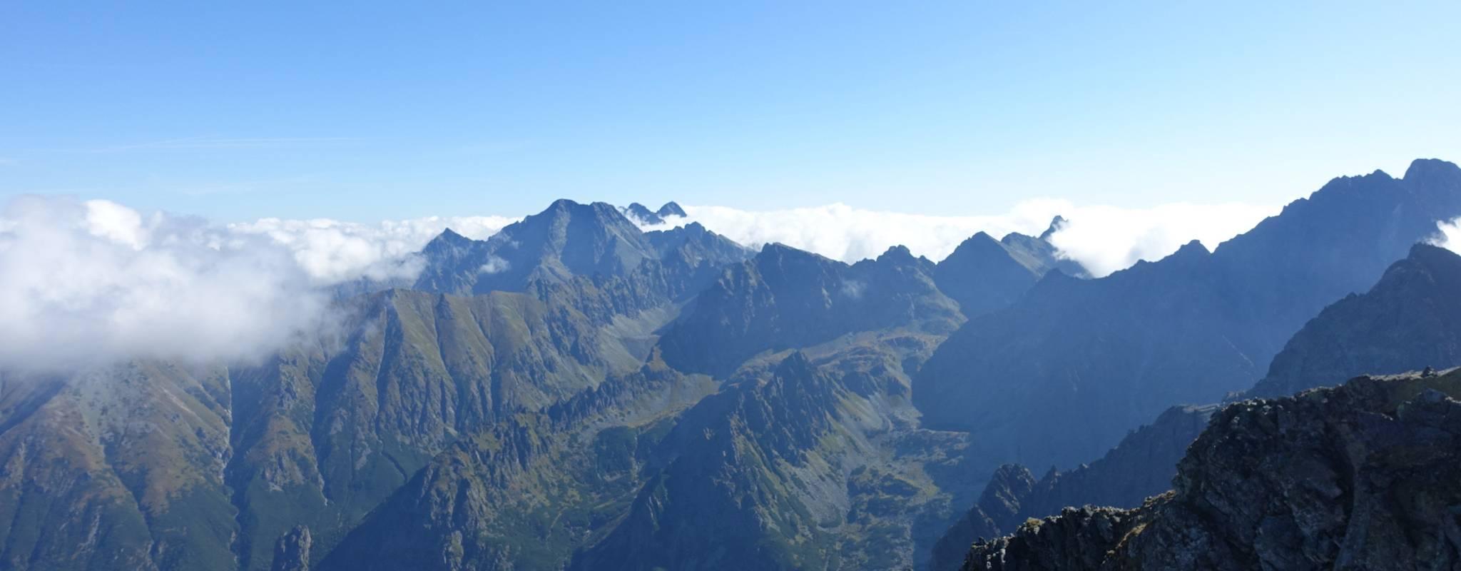 Panorama vom Rysy nach Osten. Foto: Martin Heppner
