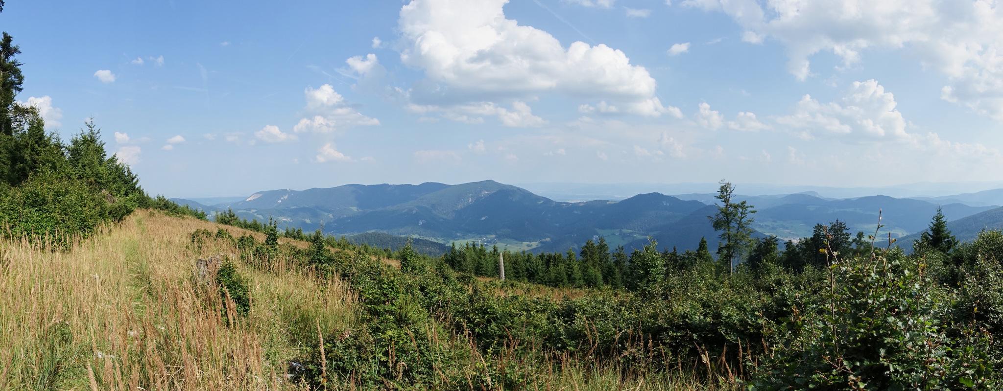 Ausblick von der Dürren Wand nach Südosten