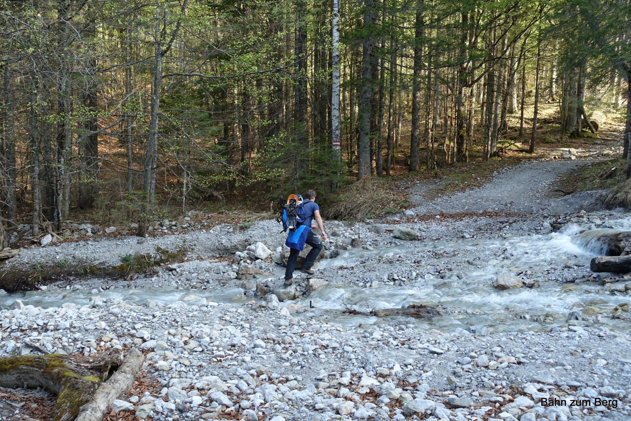 Überquerung des Trawiesbachs