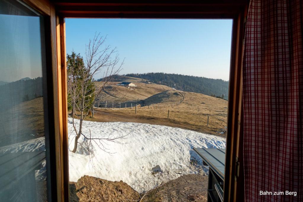 Guten Morgen! auf der Edelweiss Hütte am Schneeberg