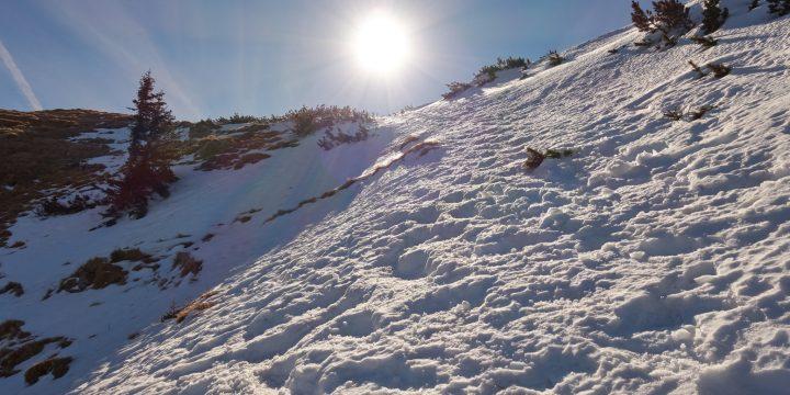 Das letzte Kletterstück am Fadensteig / Schneeberg