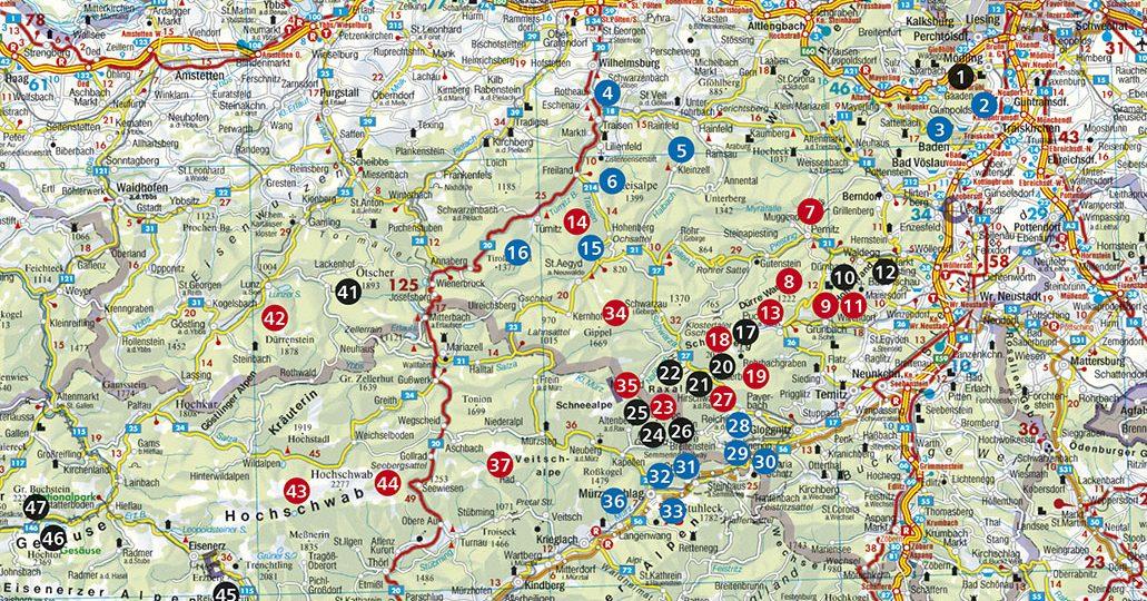 Quelle: Rother Wanderbuch Wiener Hausberge mit Bahn und Bus