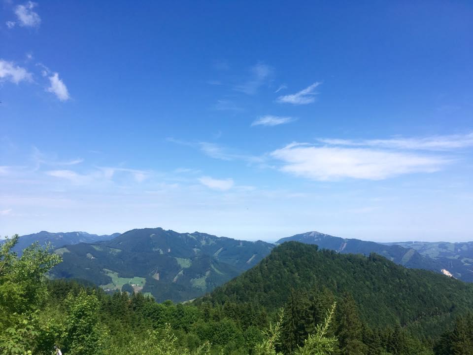 Aussicht Aufstieg zur Ennser Hütte. © VS