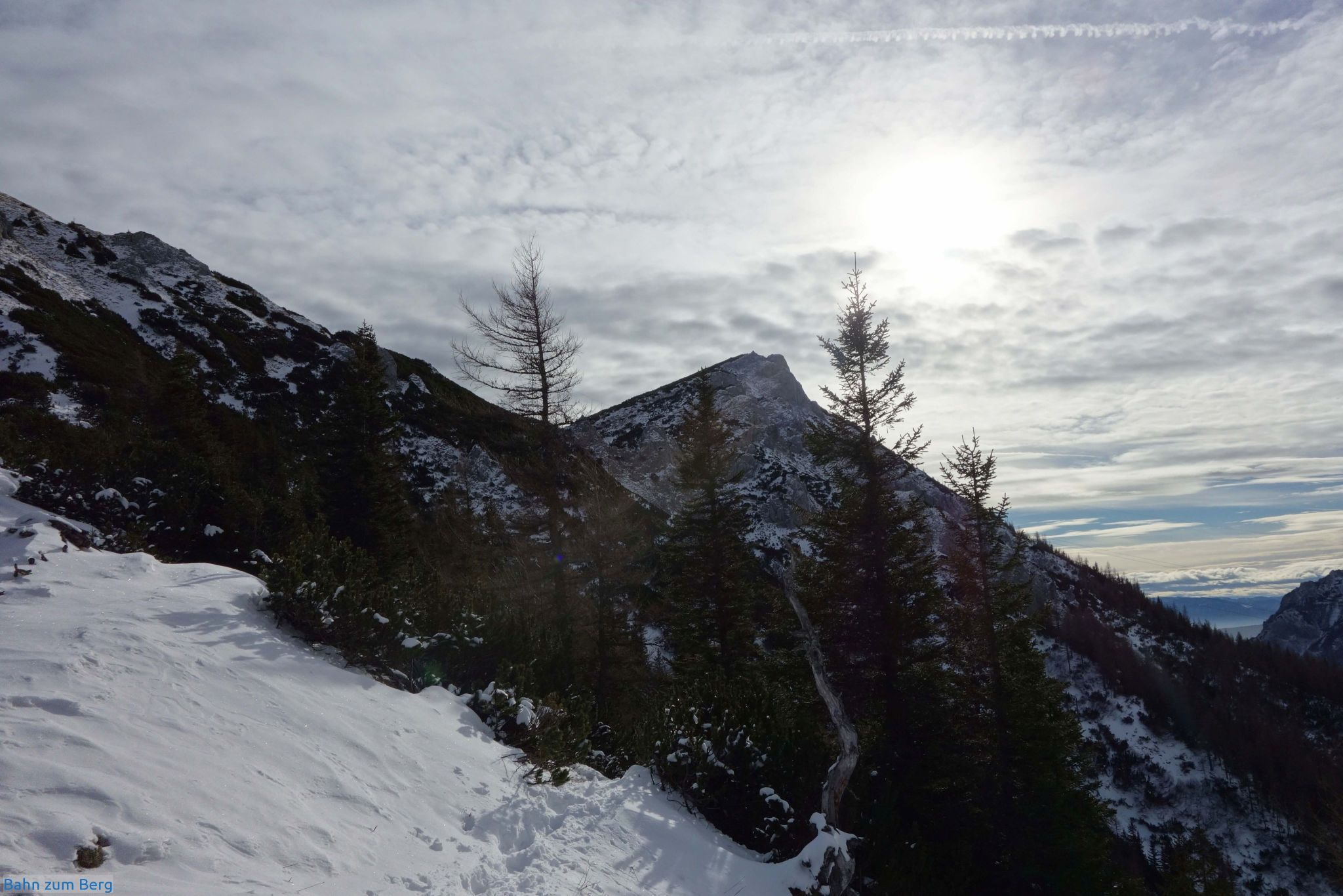 Die letzten paar Höhenmeter zur Leobner Mauer hinauf.