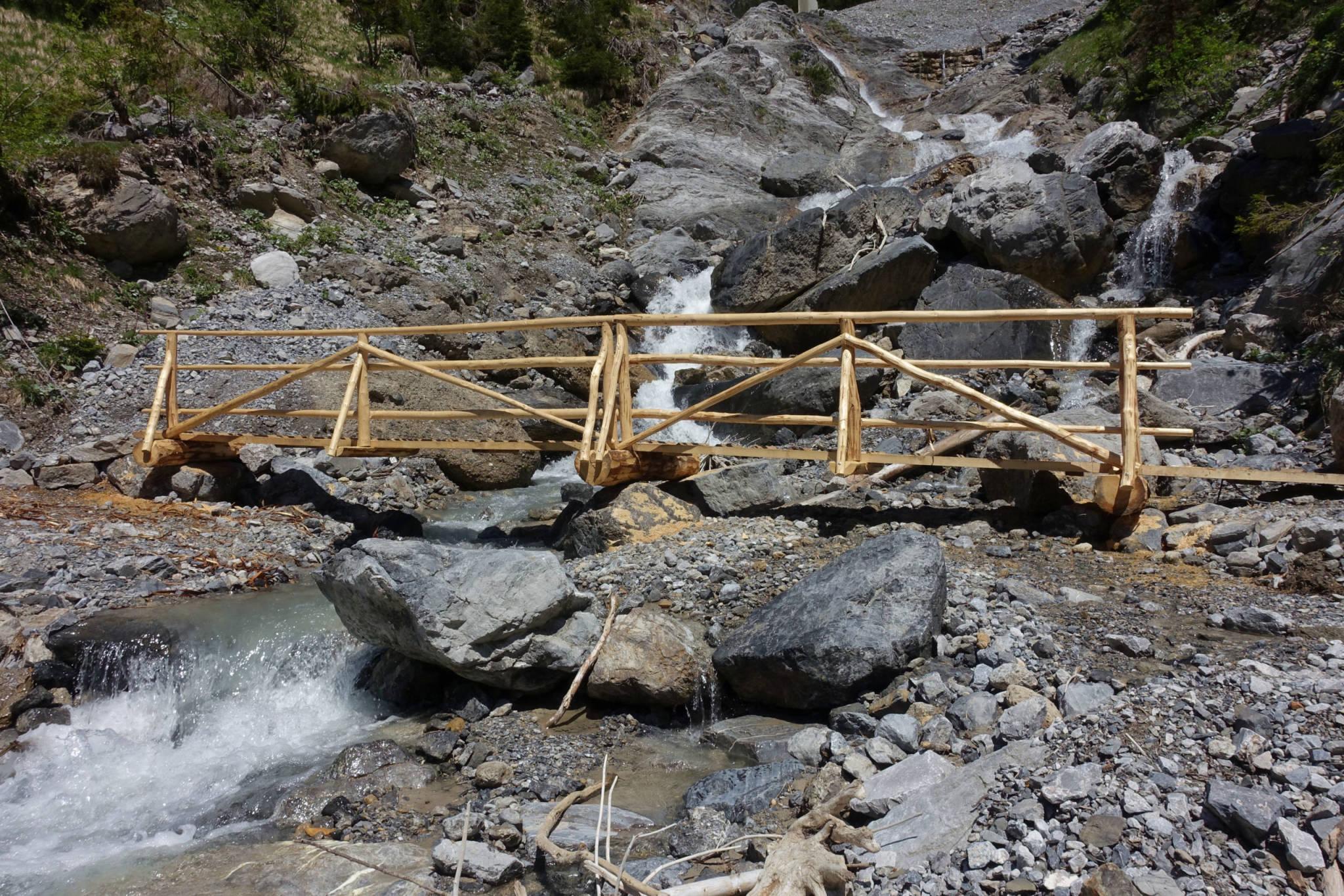 Wäldletobel - neue Brücke (Foto: Peter Backé)
