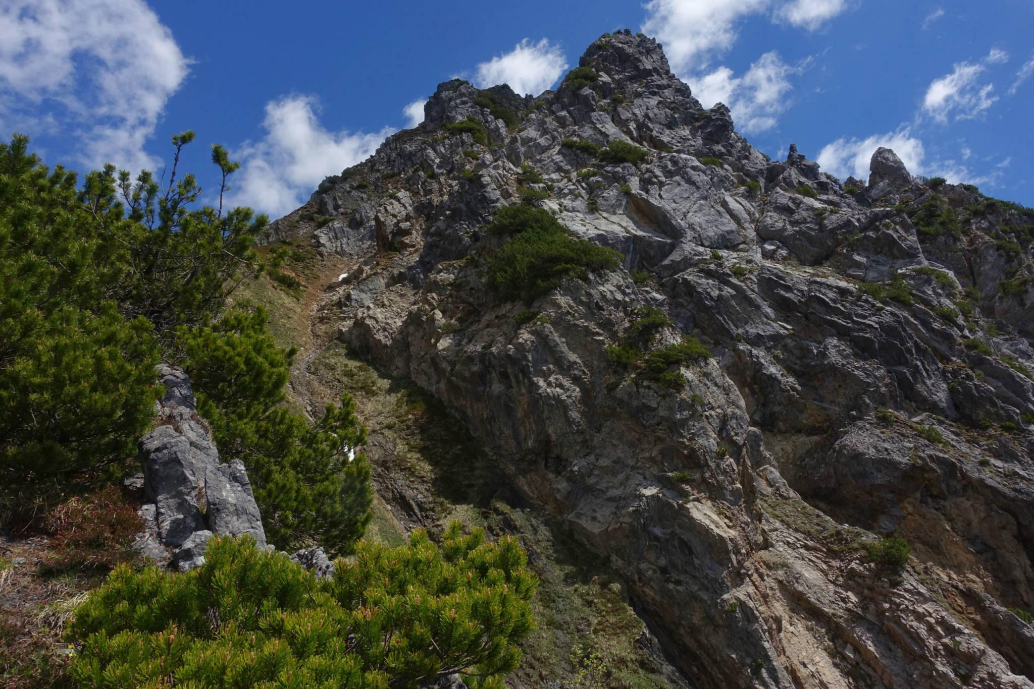 Aufstieg zur Blisadona (Foto: Peter Backé)