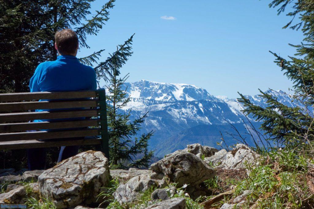 Aussichtsbankerl kurz vor der Anton-Schosser Hütte. Foto: Martin Heppner