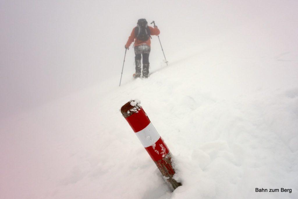 Allerdings sind die Wegmarkierungen von Hinternaßwald herauf nicht wintertauglich, weil zu nahe am Boden angebracht!