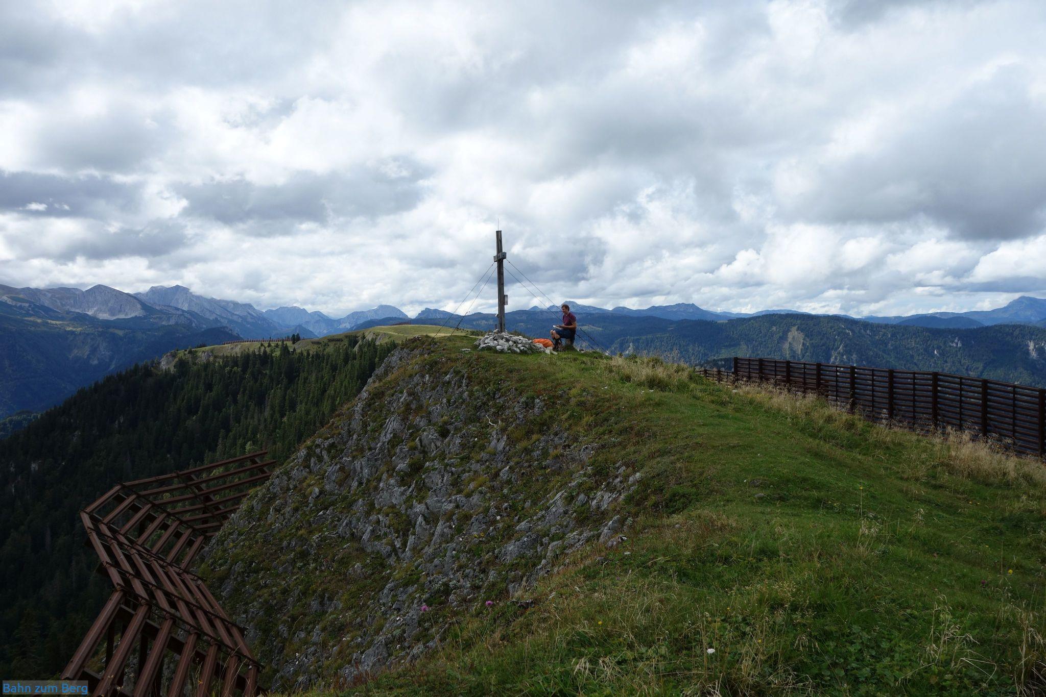 Gipfelbucheintragung auf der Wetterin.