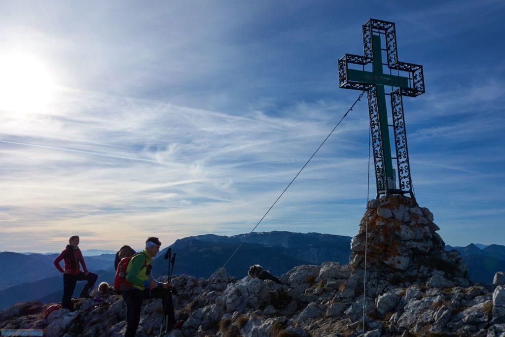 Am Gipfel des Krummbachstein.