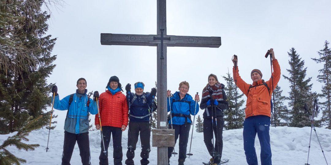 Gipfelfoto am Kreuzschober / Kaarl