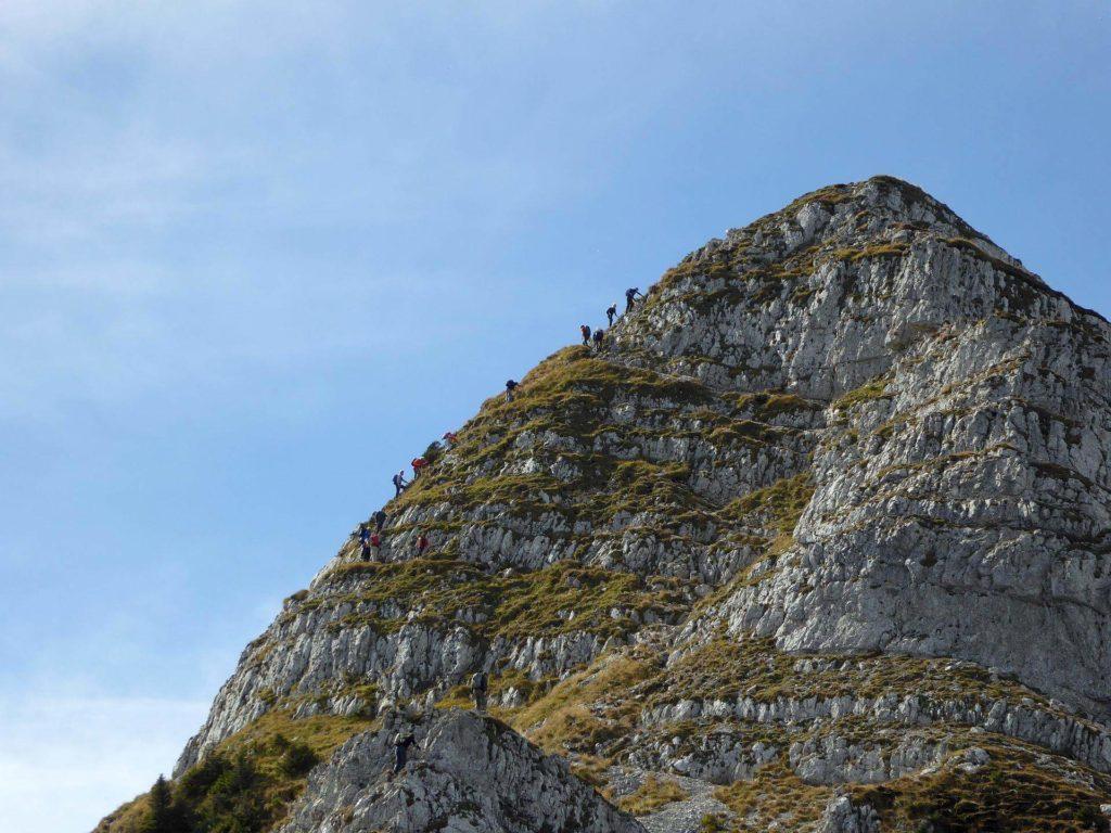 Kletterstellen am rauhen Kamm.