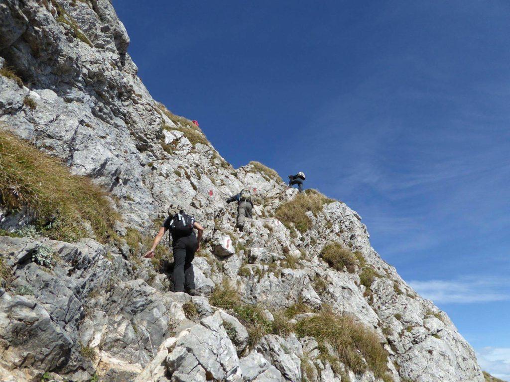 Die letzte Kletterstelle am Rauhen Kamm.