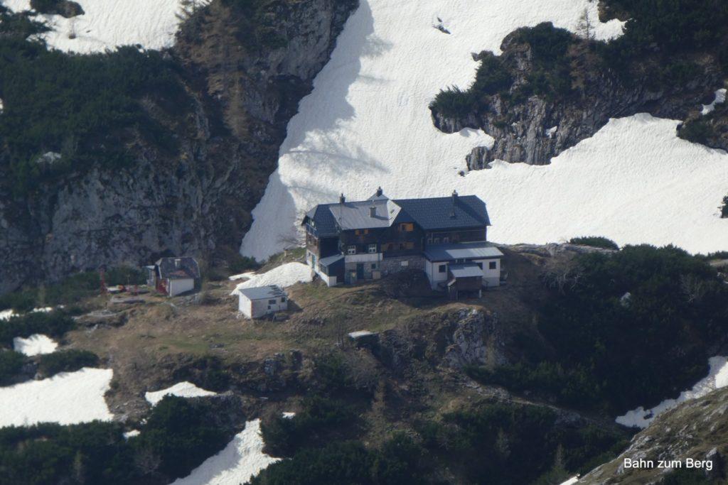 Voisthalerhütte vom Jägermayersteig aus. Foto: Didi T.