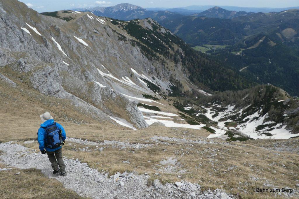 Abstieg über den Gamssteig. Foto: Didi T.