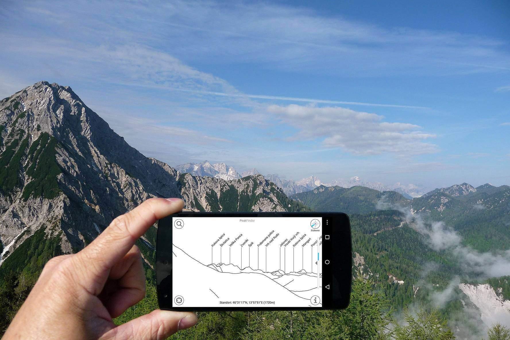 Peakfinder Smartphone App