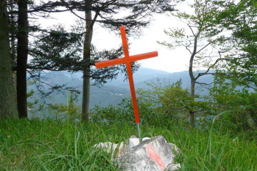 Gipfelkreuzchen am Hohen Eck. Foto: Julian Kleinknecht