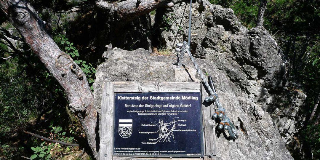 Ausstieg Klettersteig Mödling