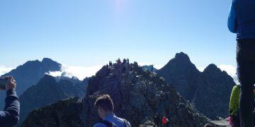 Um 9:00 am Rysy in der Hohen Tatra