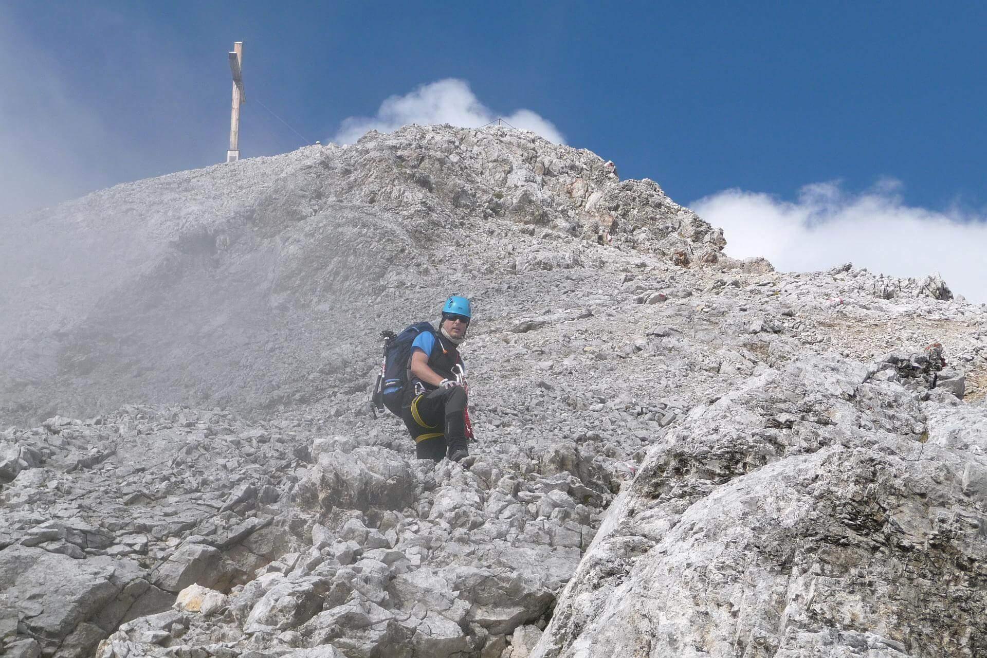 Letzter Anstieg zur Scheichenspitze.