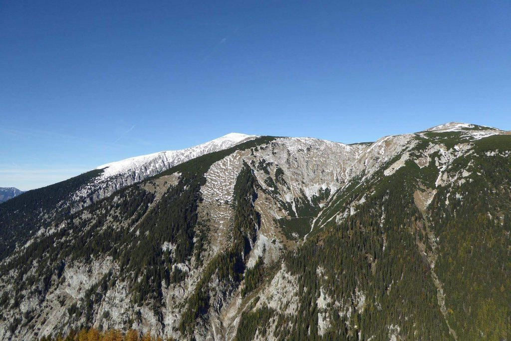 Blick auf den Schneeberg.