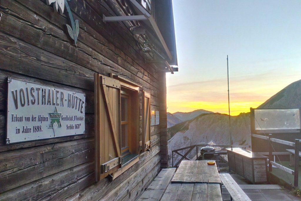 Morgenrot bei der Voisthalerhütte