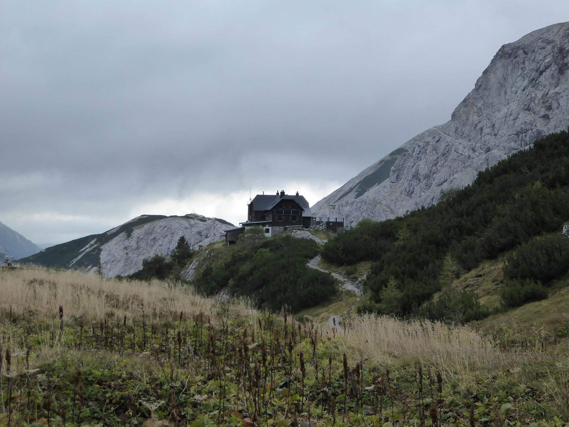 Blick zurück zur Voisthalerhütte. © 2015 HM