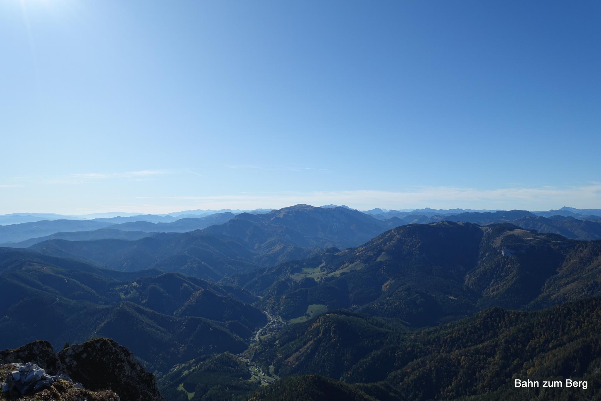 Ausblick vom Rauenstein Richtung Veitsch
