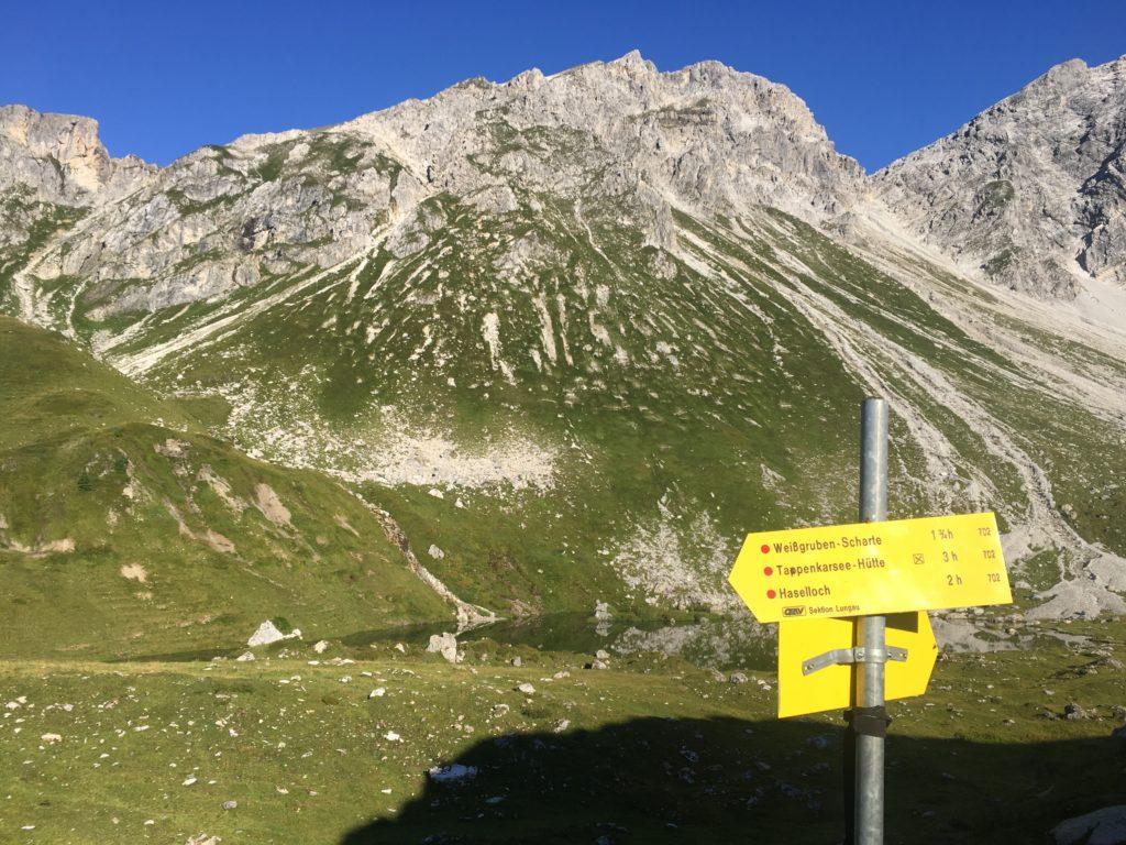 Los geht´s zur Weißgruben Scharte! Foto Veronika Schöll