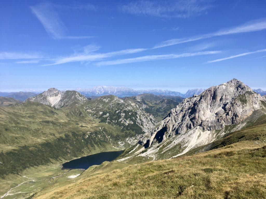 Da unten ist der Tappenkarsee. Foto Veronika Schöll