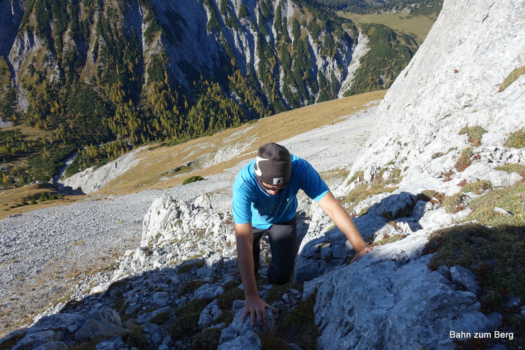 Kletterstelle kleine Mitterbergwand