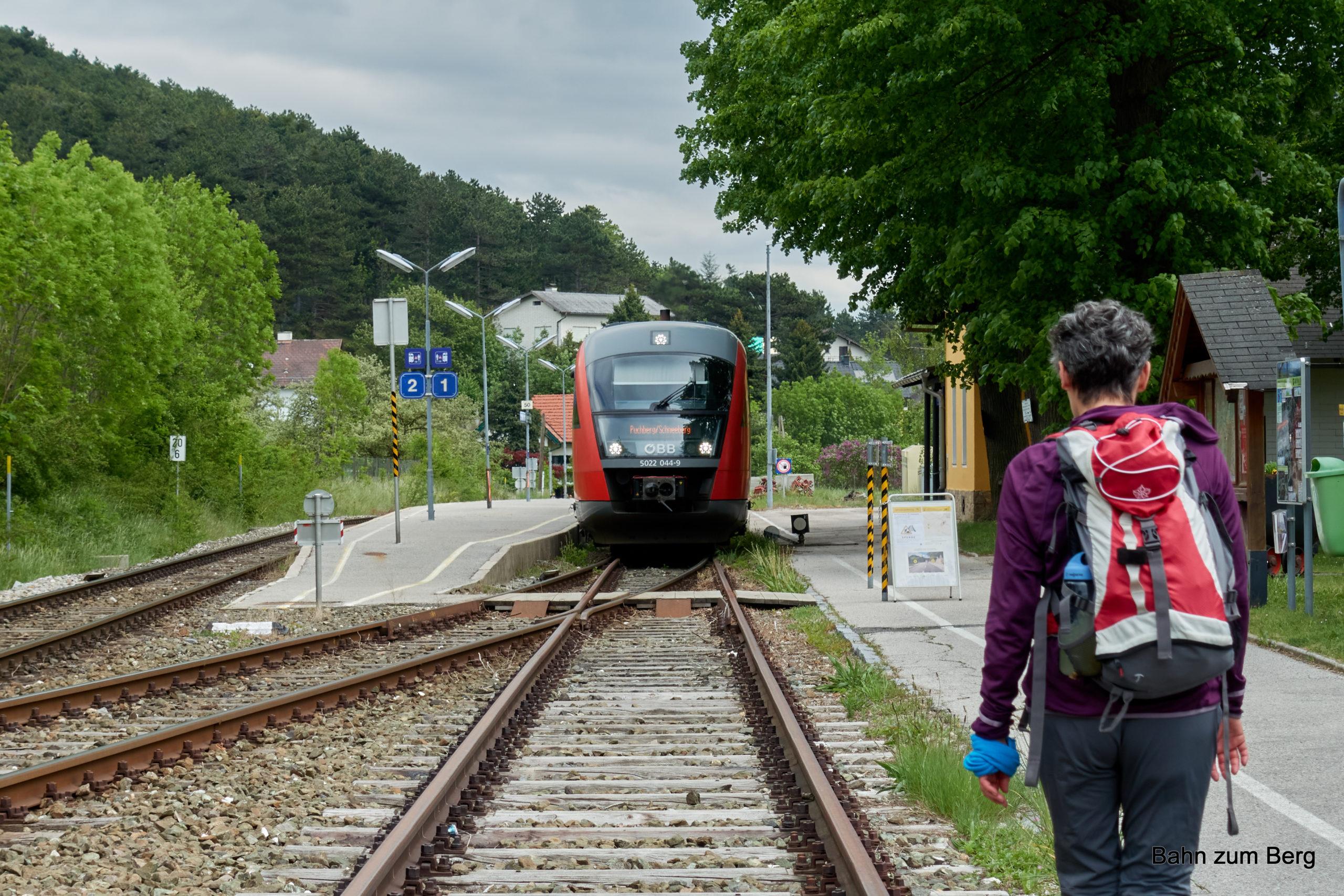 Bahnhof Grünbach am Schneeberg. Foto: Martin Heppner
