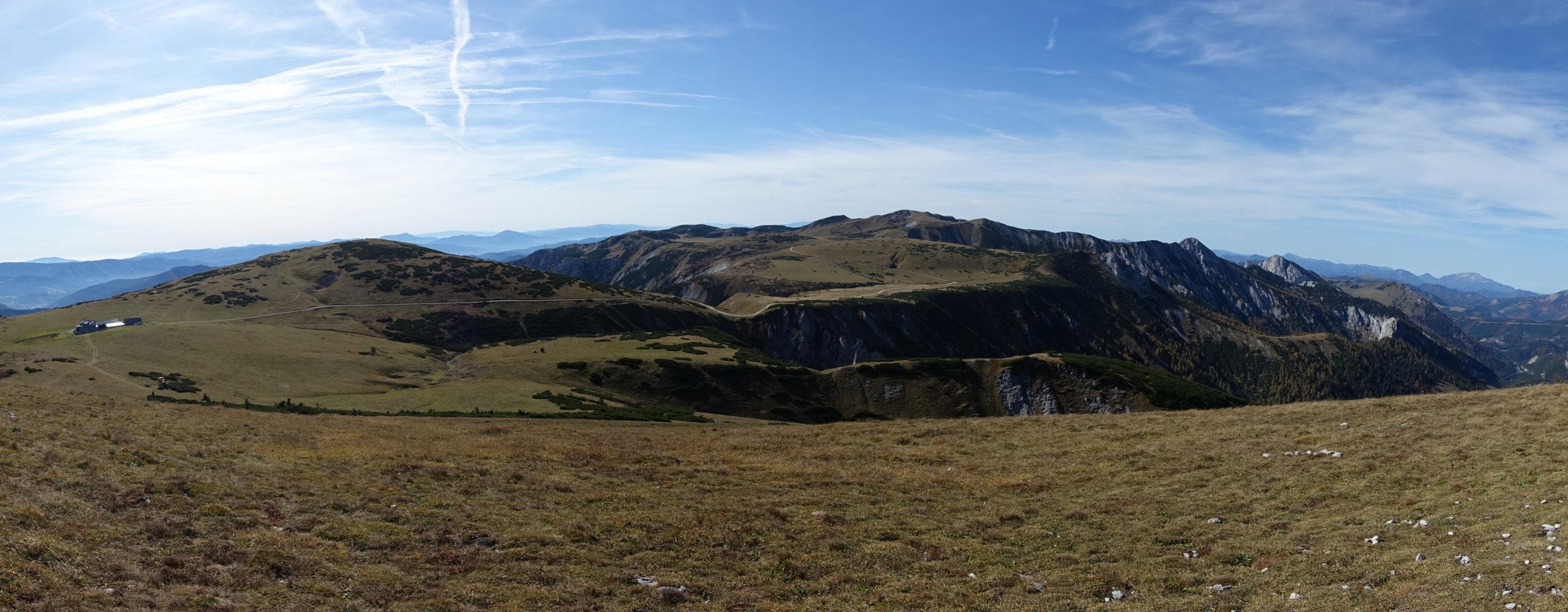 Schneealm Panorama vom Ameisbühel