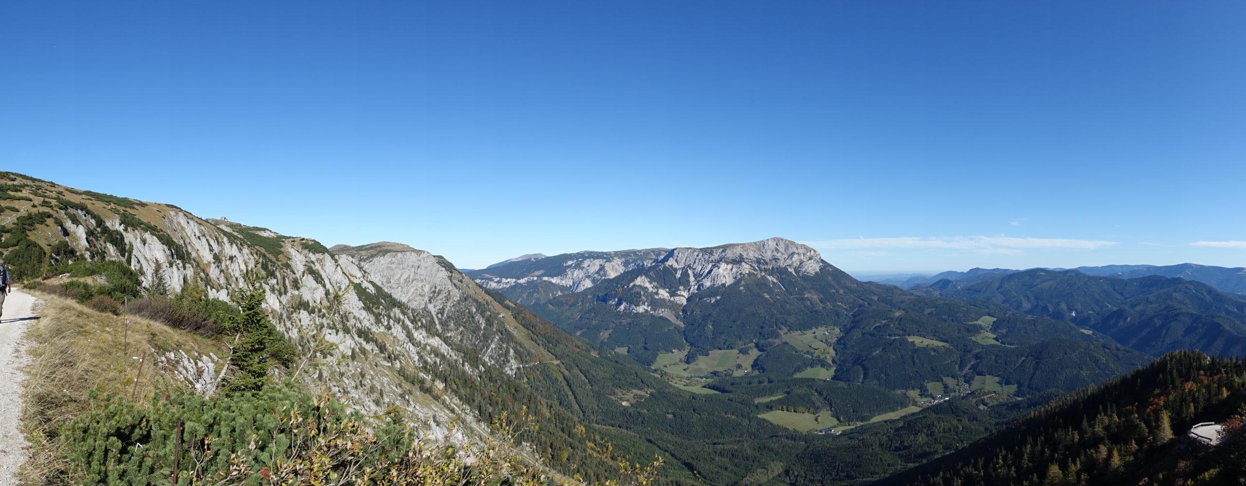 Panorama bei der Auffahrt