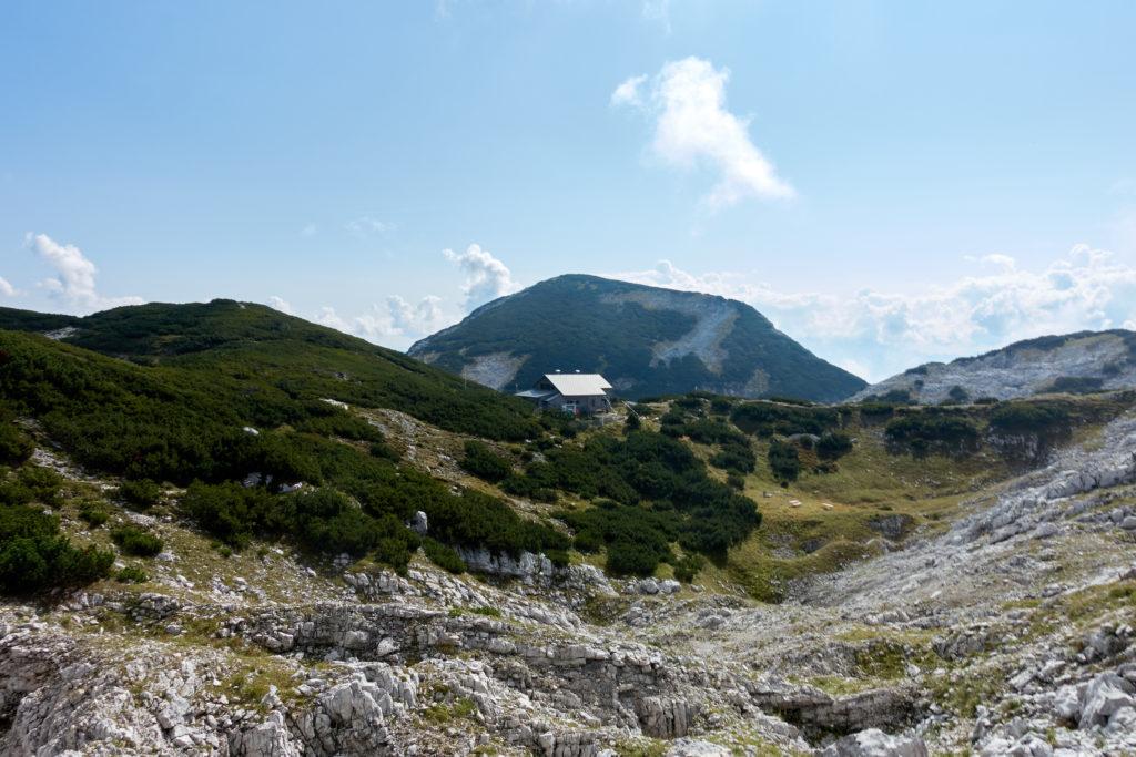Blick auf die Rieder Hütte. Foto: Martin Heppner