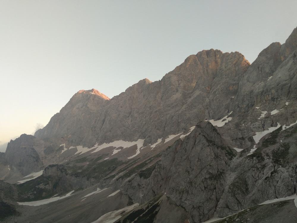 Dachstein von der Südwandhütte im Morgenlicht