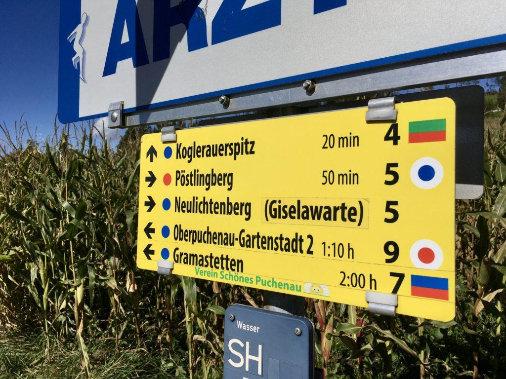 Noch 50 Minuten bis zum Hausberg von Linz. Foto: Stefan Hochhold