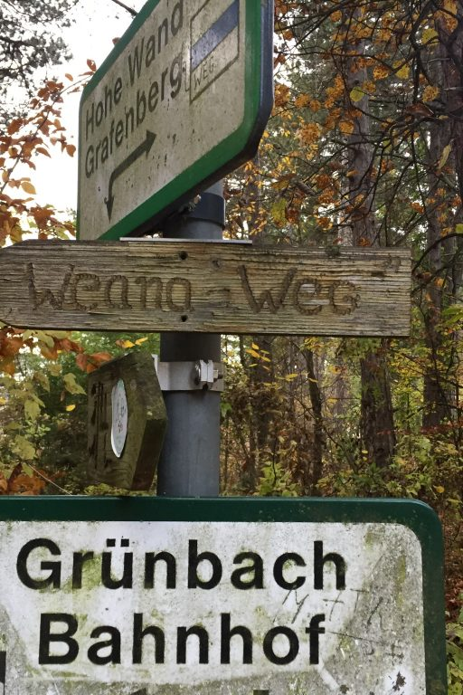 Grünbach Bahnhof über den Weana Weg