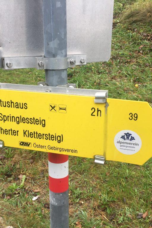 Wegweiser zum Hubertushaus