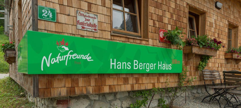 Hans-Berger-Haus Nahaufnahme. Foto: Alfred Leitgeb
