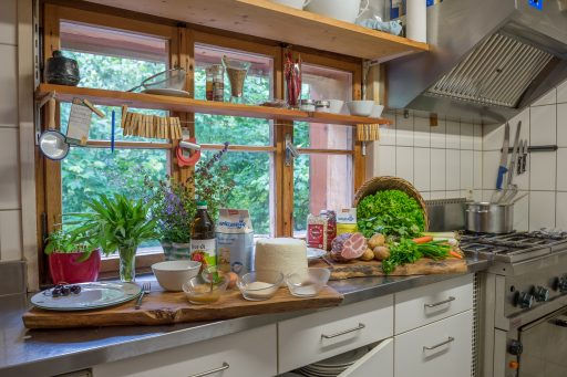 Küche Gauertalhaus. Foto: Alfred Leitgeb