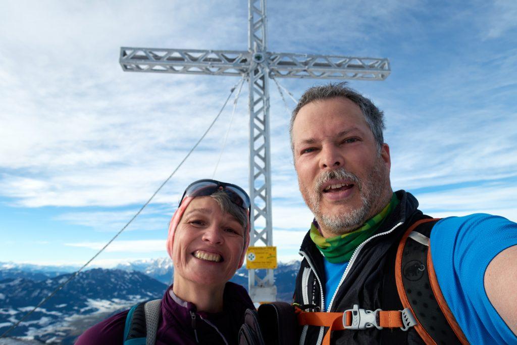 Happy Gipfeling am  Dürrenschöberl, Foto Martin Heppner