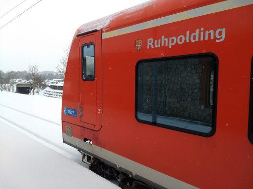 Am Bahnhof Ruhpolding. Foto: Nikolaus Vogl