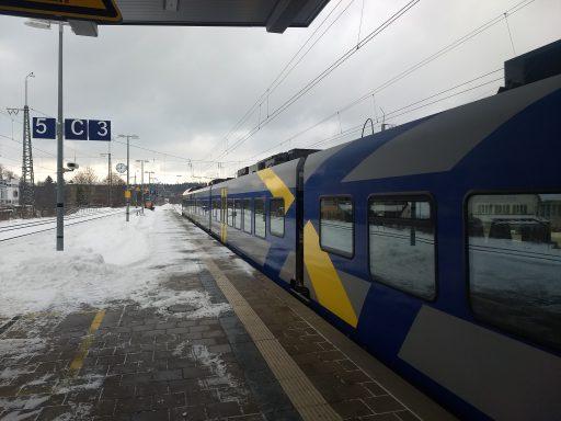 Anfahrt mit BRB und SOB nach Ruhpolding. Foto: Nikolaus Vogl